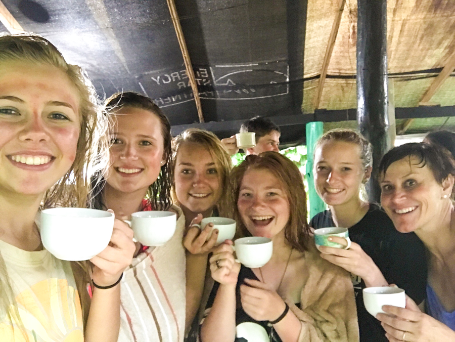 Coffee tasting Costa Rica class field trip